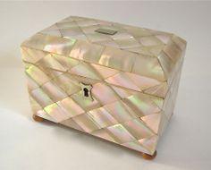 Antique 19thC Mother of Pearl Tea Caddy Box