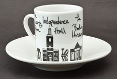Philadelphia Mugs - #Philly #Espresso Cup & Saucer