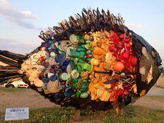 Art Sculpture beside the ferry to Art Site Naoshima