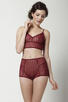anthropologie long-line bra and high-waist knickers.