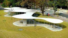 Junko Fukutake Terrace Okayama University Japan by Kazuyo Sejima Ryue Nishizawa / SANAA