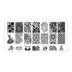 5pcs Flowers Nail Art Stamp Stamping Image by HighClassNailsss
