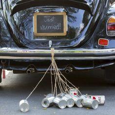 Blechdosen fürs Brautauto Wedding Cans