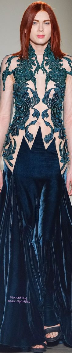 FALL COUTURE 2015 Julien Fournié ♕♚εїз | BLAIR SPARKLES | Couture 2015, Couture Fashion, Couture Week, Julien Fournié, Runway Fashion Looks, High Fashion Dresses, Gorgeous Redhead, French Fashion Designers, Fantasy Dress