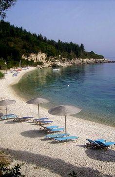 Glyfada beach Villas side of Monadendri beach, Paxos Island, Greece   by by…