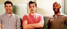 Schmidt,Nick &  Winston...New Girl guys