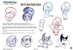 How to draw Cartoon head by celaoxxx.deviantart.com