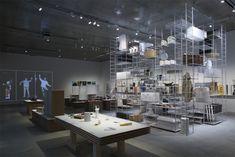 tani_12_Keizo_Kioku Exhibition Space, Conference Room, Table, Furniture, Display, Design, Home Decor, Shop, Floor Space