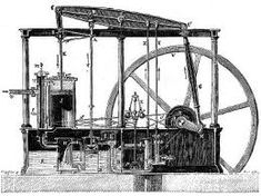 Name: Watt Steam Engine Designer: James Watt Year: 1763 - 1775 The first type of steam engine that used pressurised steam to drive pistons. Steam Engine History, James Watt, 3d Printing Industry, Thermal Energy, Kinetic Energy, Industrial Revolution, Archaeology, Engineering, Steam Punk