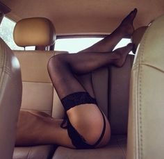 Obsessed  #stockings #car #sexy