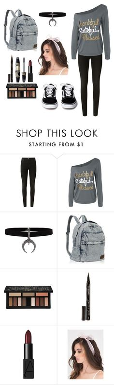 """""""Untitled #91"""" by magic-sunsat ❤ liked on Polyvore featuring J Brand, Kat Von D, Smith & Cult, Max Factor and NARS Cosmetics"""