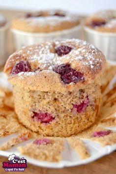 SANS GLUTEN SANS LACTOSE: Muffins aux noisettes et cerises sans gluten et sans lactose