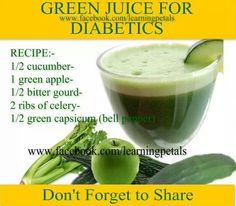Green Juice For Diabetics - Bitter Melon or BItter Gourd - it's the same thing - Good for you especially if you have diabetes or cancer