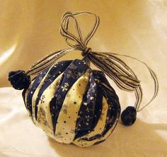 Navy Blue and Cream Twister Omiyage | lovelythings - Bags & Purses on ArtFire