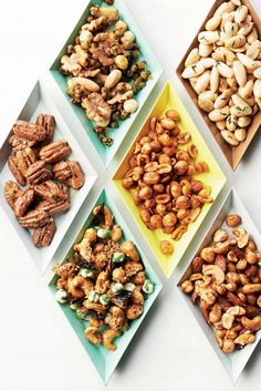 Peppered mixed nuts with lemon and fried capers  // appetizer
