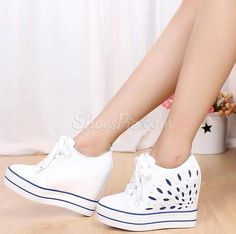 Fashion Cut-Outs Sneakers with Inside Heels