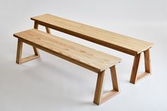 KM .12 / mabashira-bench A   大工の手   【わざわ座】デザイン×ものづくりのプラットフォーム Bench Furniture, Diy Furniture Projects, Steel Furniture, Furniture Design, Bar Interior, Wooden Stools, Home And Deco, Diy Woodworking, Home Living Room