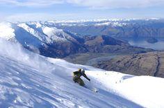 Skiing Trebel Cone - Wanaka, New Zealand.