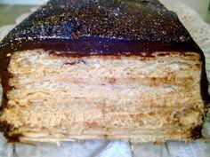 Tarta de Galletas con Dulce de Leche y Chocolate