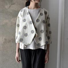 everlasting sprout / 綿毛幾何学刺繍のジャケット 服