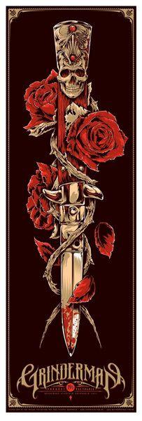 Grinderman concert poster by Ken Taylor