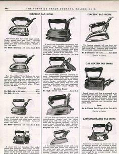 1927 Ad Coleman Gasoline Heated Sad Irons Dover Gas Mrs Potts Asbestos