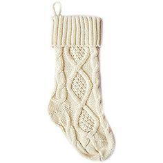 universalgoods christmas stocking chunky knit stocking large white knit stockings christmas stockings - White Knit Christmas Stockings