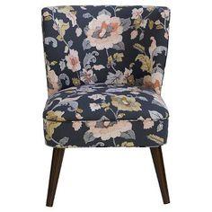 Lauren Curved Back Armless Chair Lalita Storm - Skyline Furniture