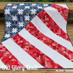 My Quilt Infatuation: Tutorials Primitive Wood Crafts, Primitive Stitchery, Primitive Patterns, Primitive Folk Art, Primitive Snowmen, American Flag Quilt, History Of Quilting, Quilting Tips, Signature Quilts