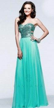 Sequined back prom dresses by Faviana
