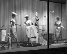 vintage store window display