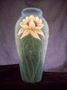 Waterlilies by Martin Cushman Clay ~ 14'' tall x 22'' around