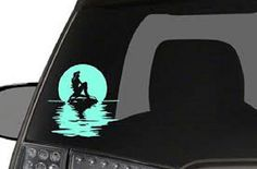 Mermaid Car Decal Sticker by FlyVisionPrints on Etsy
