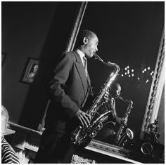Don Byas (October 1912 – August [Photo- Hans Buter] Jazz Artists, Living In Europe, All That Jazz, Blues, Mirror, Portraits, Music, August 24, Saxophone