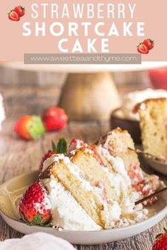 This beautiful multi-layer strawberry shortcake cake is a family tradition! Easy to make with a soft vanilla cake, fluffy homemade whipped cream, and fresh strawberries. It's a breath-taking, show stopping centerpiece of a cake that is perfect for birthdays, valentine's day, or any spring and summer occasion! Strawberry Filling, Strawberry Cakes, Strawberry Shortcake, Easy Desserts, Dessert Recipes, Homemade Whipped Cream, Tart Recipes, Sweet Tea, Chocolate Recipes