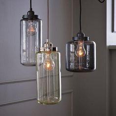 Transformation de pots en vitre pour luminaire