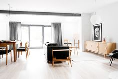 Apartamento preto e branco com decoração minimalista - limaonagua