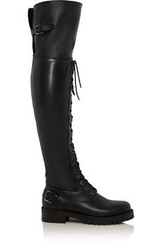 Dolce & Gabbana Leather over-the-knee boots   NET-A-PORTER