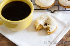 Skinny Pumpkin Cinnamon Chip Donuts with Maple Cream Cheese Glaze | www.themessybakerblog.com -8486
