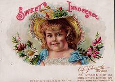 sweet innocence Cigar Box Art, Pall Mall, Cigars, The Outsiders, Anna, Smoke, Female, Sweet, Candy