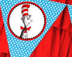 Printable Banner - Dr. Seuss Baby Shower Birthday Party Line - Stick to Your Story