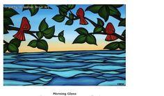"nice calm morning,""Morning Glass"", Heather Brown art, Kotori LAB-lovely birds"