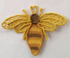 Needle lace bee