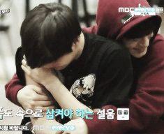 jongdae hugging jongin after he got hit NYAAAW. MY LOVES. I would die to hug kai like that O_O