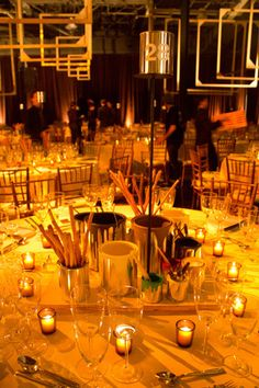 Centerpieces at the Whitney Museum of American Art gala, held in October, encouraged playful interaction, featuring silver paint cans......