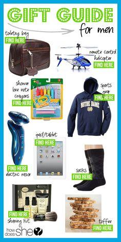 Men's Gift Guide! #giftsformen #giftguide #howdoesshe howdoesshe.com