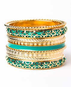 mint bangle set. Just bought a jacket this color. Love!!!! My room is this color. Love!!!!