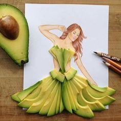افوكادو avocado tiger vegetable salad الشيف الدولي