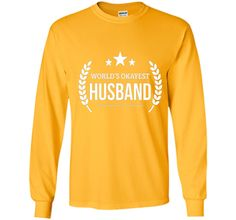 Men's World's Okayest Husband T-shirt Funny PREMIUM Valentine day