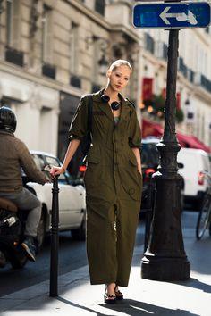 #SooJoo working a boiler suit #offduty in Paris. #SooJooPark
